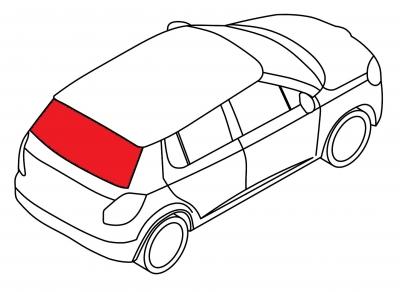 Заднее стекло AUDI 100 - 200 4D SED (кузов 44)
