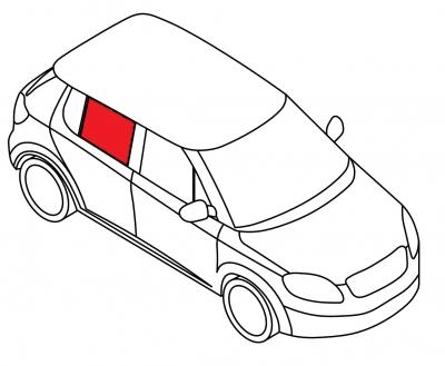 Стекло заднее дверное правое AUDI 100 - 200 4D SED (кузов 44)