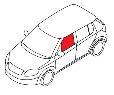Стекло переднее дверное левое AUDI A6 4D SED, AVANT