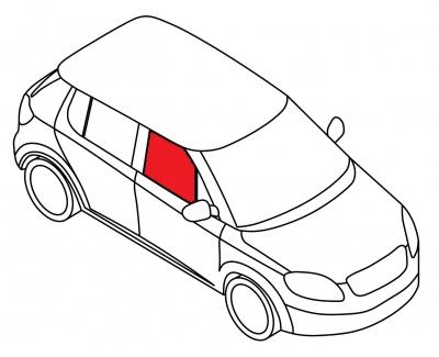 Стекло переднее дверное правое BMW 5 SERIE - E-39 4D SED