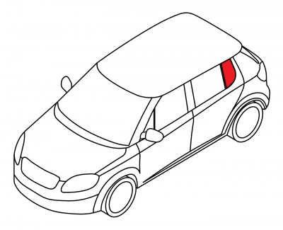 Задняя форточка левая BMW 3 SERIE - E-30 4D SED