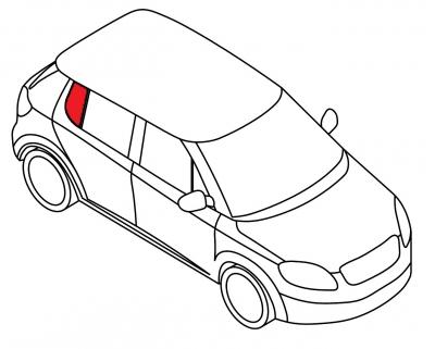 Задняя форточка правая BMW 3 SERIE - E-30 4D SED
