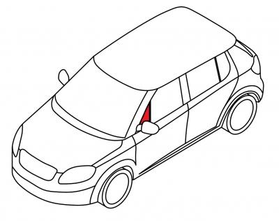 Передняя форточка левая BMW Z3