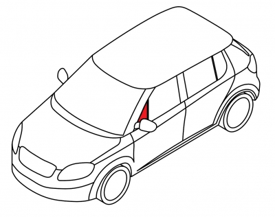 Передняя форточка левая AUDI 100 - 200 4D SED, AVAHT (кузов 43)