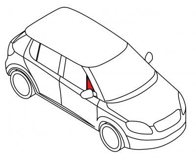 Передняя форточка правая BMW Z3