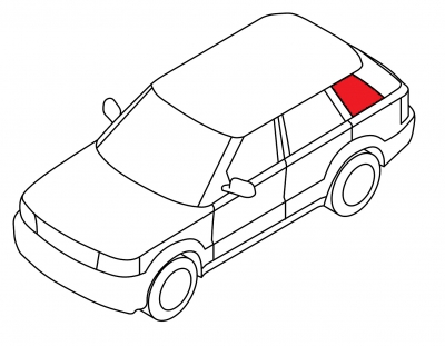 Боковое кузовное глухое левое AUDI 100 - 200 4D SED (кузов 43)