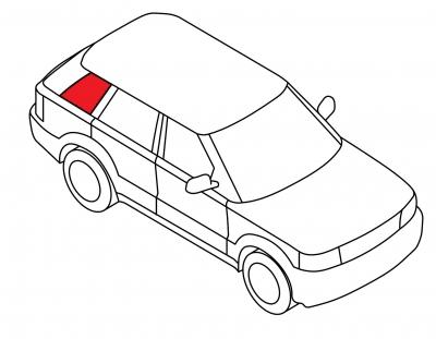 Боковое кузовное глухое правое AUDI A4 4D SED