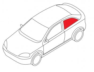 Боковое кузовное глухое левое AUDI A3 3D HB