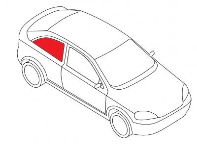 Боковое кузовное подвижное правое AUDI A3 3D HB