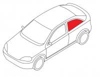 Боковое кузовное глухое левое ALFA 145 3D