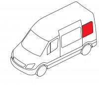 Боковое кузовное глухое левое Lada Largus