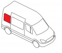 Боковое кузовное глухое правое Lada Largus