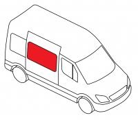 Боковое cреднее подвижное правое MERCEDES-BENZ CITAN W415